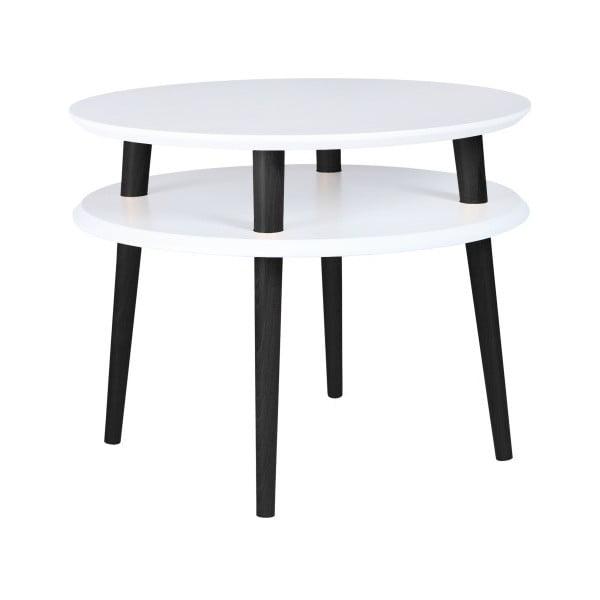 UFO fehér kávézó asztal fekete lábakkal, Ø 57 cm - Ragaba
