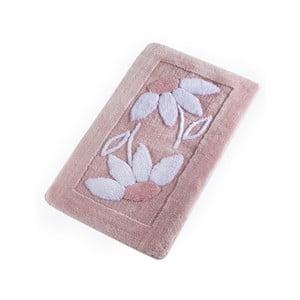 Růžová koupelnová předložka Confetti Bathmats Daisy Pink, 60 x 100 cm