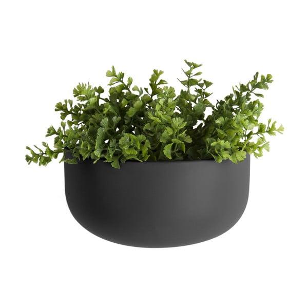 Matně černý nástěnný keramický květináč PT LIVING Nest