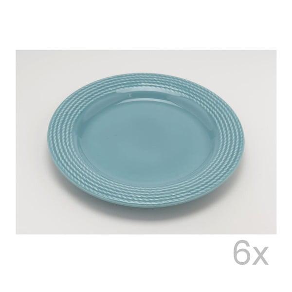 Dezertní talíř Turquoise 25 cm (6 ks)