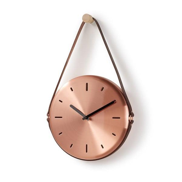 Nástenné hodiny v medenej farbe La Forma Wolly