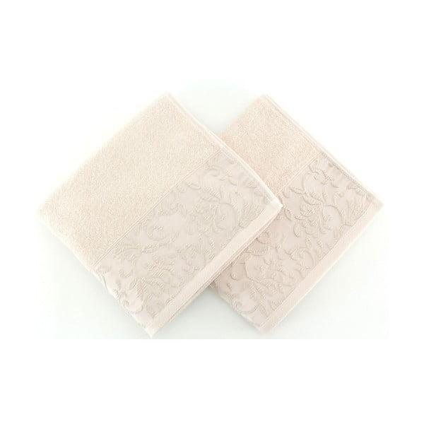 Burumcuk 2 részes pamut kéztörlő szett, 50 x 90 cm