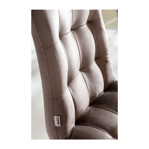 Sada 2 šedých kožených jídelních židlí Kare Design Moritz