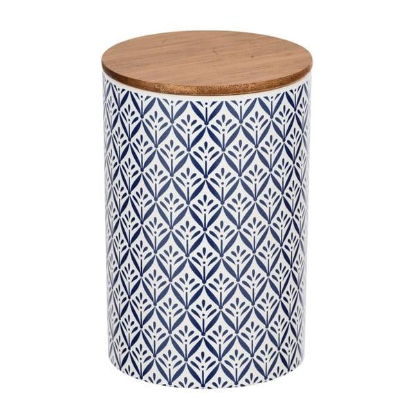 Ceramiczny pojemnik z bambusową pokrywką Wenko Lorca, 1,45 l