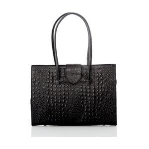 Černá kožená kabelka Glorious Black Manu