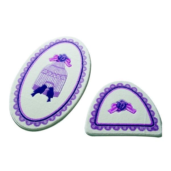Sada 2 koupelnových předložek Confetti Bathmats Birdcage