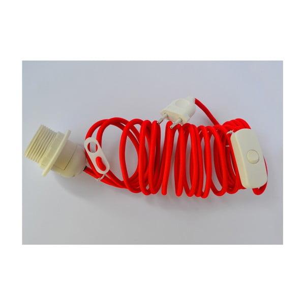 Textilní elektrický kabel Earth Friendly, červený
