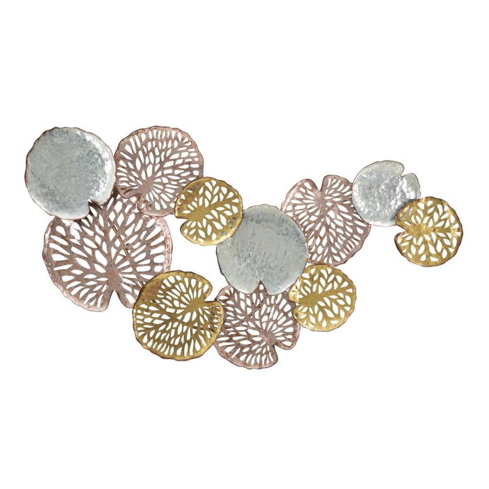 Nástěnná dekorace ve stříbrné a zlaté barvě Mauro Ferretti Lotus Leaf