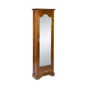 Botník ze dřeva mindi se zrcadlem SantiagoPons Elena, 56x22x170cm
