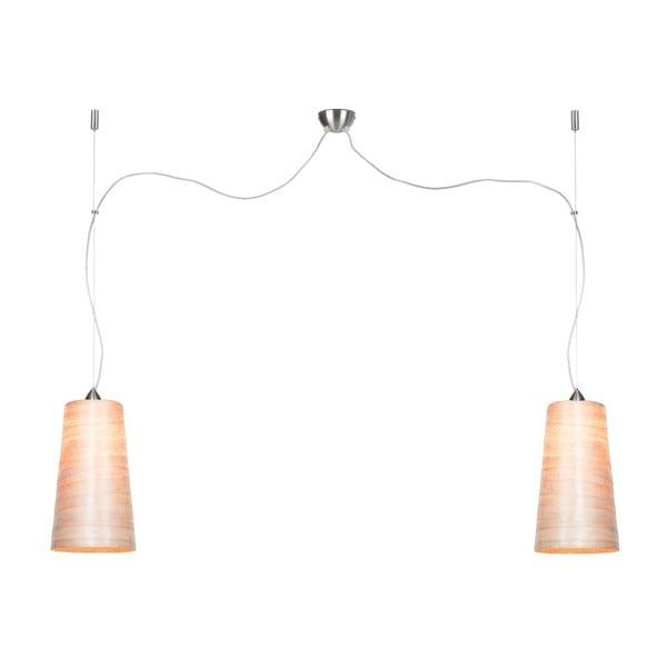 Závesné dvojité svetlo z abaky Good&Mojo Sahara Abaca, priemer 22 cm