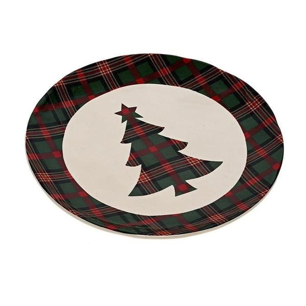Keramický talíř Christmas Tree, 20 cm