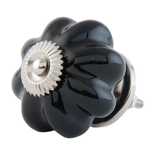 Dveřní knoflík Black Flower