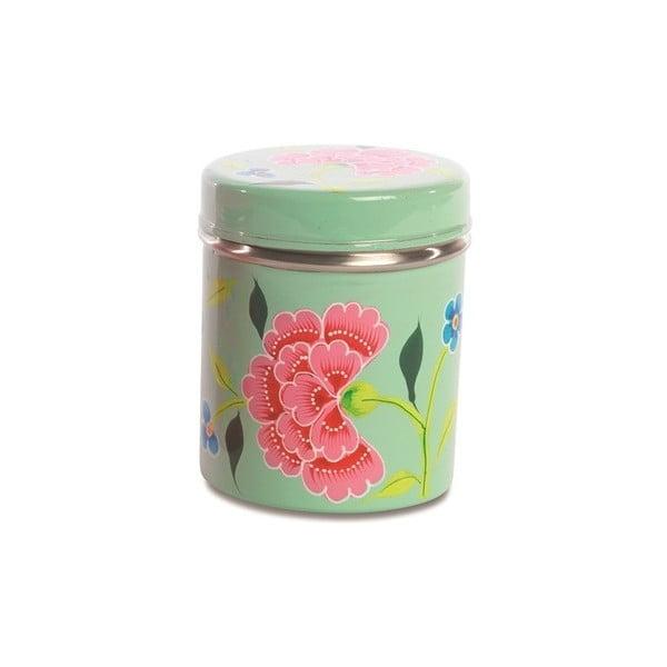 Dóza Franjipani Floral Tin, zelená