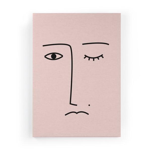 Obraz zo zamatového plátna Velvet Atelier Face, 50×70cm