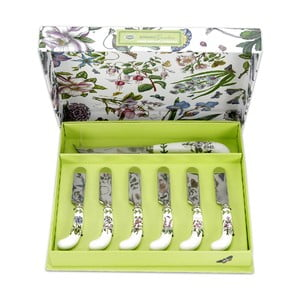 Set 6 ks roztíracích nožů a 1 ks nože na sýr Portmeirion