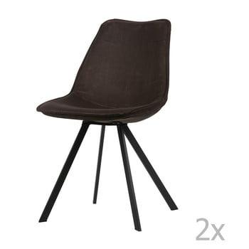 Set 2 scaune WOOOD Swen, gri antracit de la WOOOD