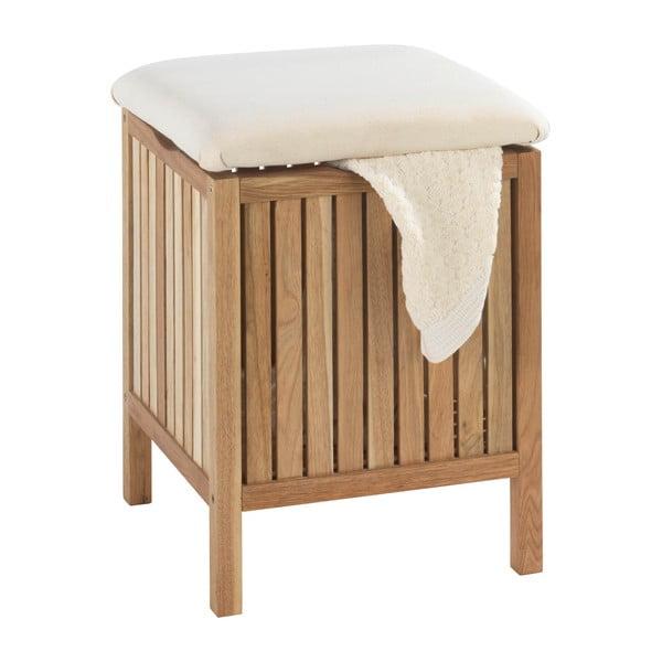 Norway diófa fürdőszobai ülőke tárolóhellyel - Wenko
