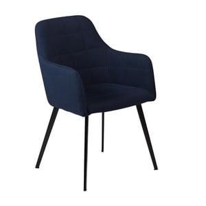 Tmavě modrá jídelní židle s područkami DAN–FORM Embrace