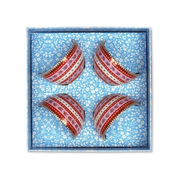 Set misek 9,5 cm, růžový