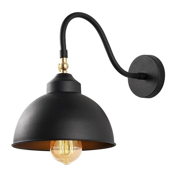 Čierne kovové nástenné svietidlo Opviq lights Fotini