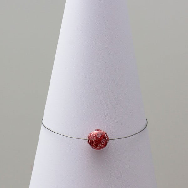 Skleněný náhrdelník ko-ra-le Wired, červený