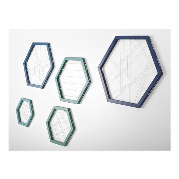 Rachetta Blue and Green, sada 5 ukládacích rámů
