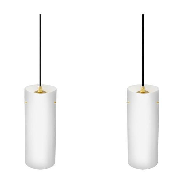 Dvojité svítidlo PAIPU Elementary, matná opálová/měděná/černá/černá