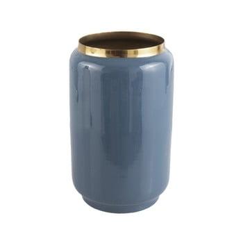 Vază cu detalii aurii PT LIVING Flare, înălțime 22 cm, albastru de la PT LIVING