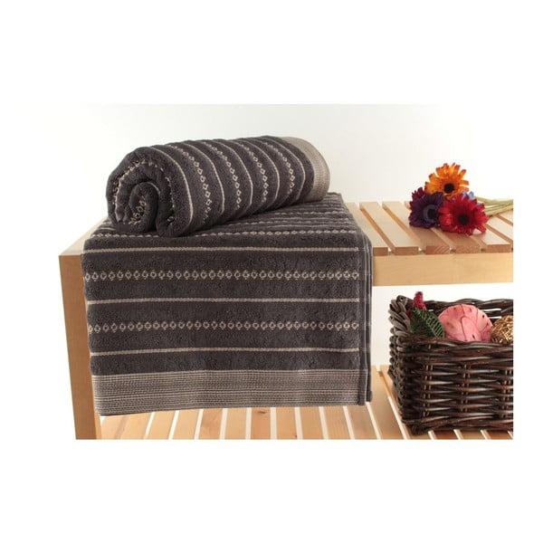 Sada 2 osušek Bombeli Black, 90x150 cm