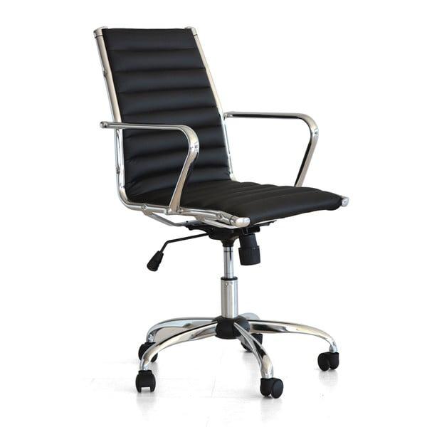 Pracovní židle na kolečkách Pandora, černá