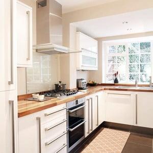 Vysoce odolný kuchyňský koberec Webtappeti Trellis Apricot, 60x220 cm