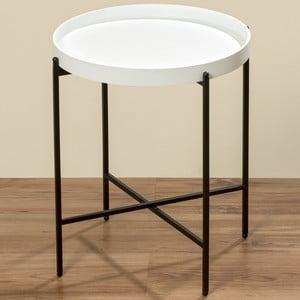 Černobílý odkládací stolek Boltze Abigail