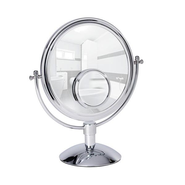 Oglindă cosmetică cromată Wenko Grando, înălțime 37 cm