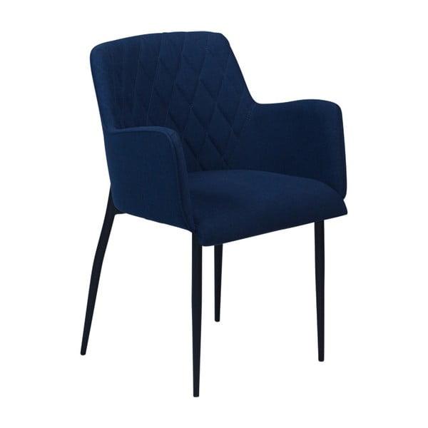 Tmavě modrá jídelní židle s područkami DAN–FORM Rombo