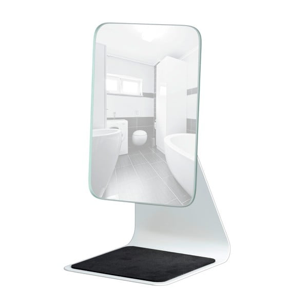 Bílé kosmetické zrcadlo Wenko Frisa