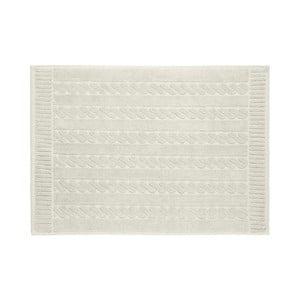Šedobéžová bavlněná koupelnová předložka Maison Carezza Amelia, 50 x 70 cm