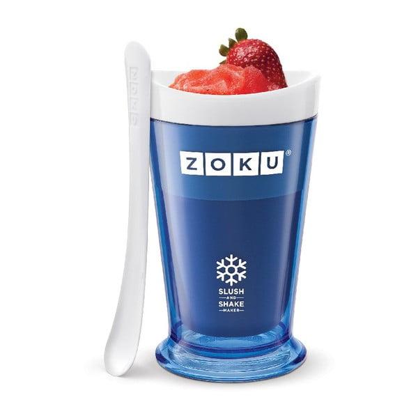 Modrý výrobník ledové tříště ZOKU Slush&Shake