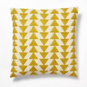 Žlutý polštář La Forma Ystad,45x45cm