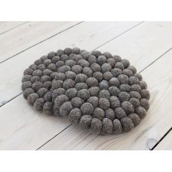 Suport pahar, cu bile din lână Wooldot Ball Coaster, ⌀ 20 cm, maro nucă imagine