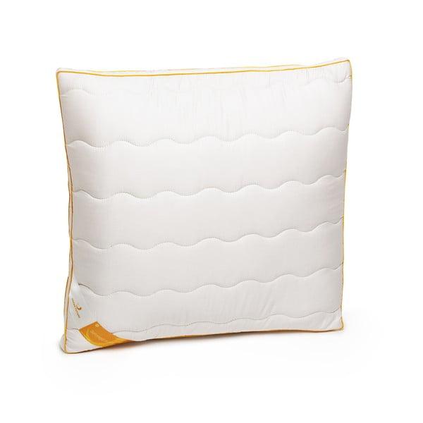 Bílý polštář s vlnou merino Lana Green Future, 60x60cm