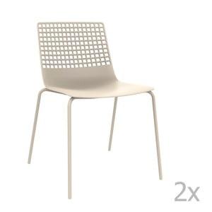 Sada 2 bílých zahradních židlí Resol Wire