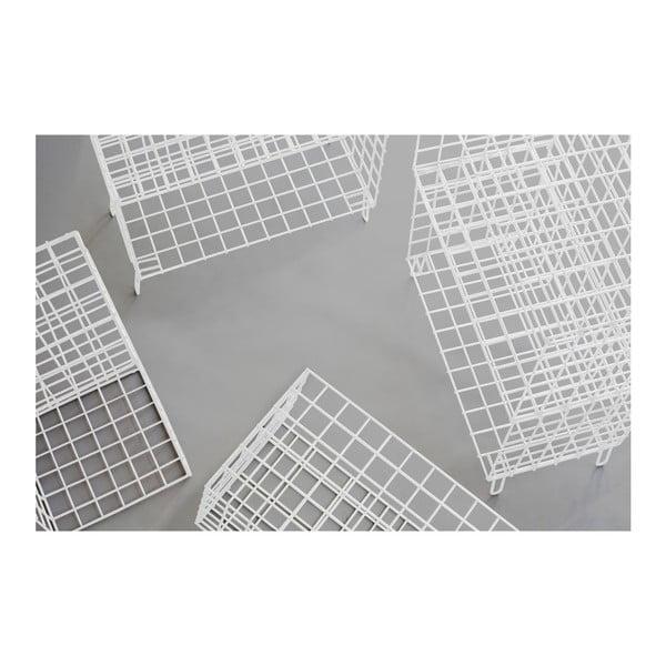 Bílá kovová úložná skříňka Really Nice Things, 56 x 100 cm