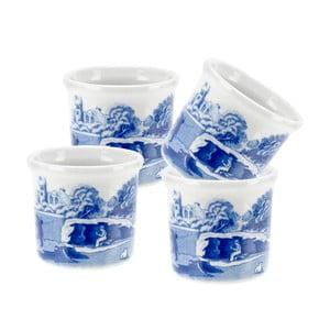 Sada 4 bílomodrých porcelánových stojánků na vejce Spode Blue Italian, ø 4,5 cm