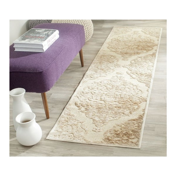 Béžový koberec Safavieh Marigot, 66x243cm