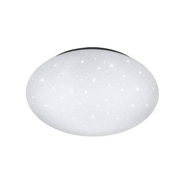 Biała lampa sufitowa LED Trio Putz, średnica 40 cm