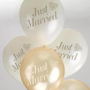 Set baloane Neviti Vintage Romance, alb auriu