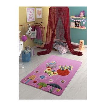 Covor pentru copii Confetti Butterfly Effect, 100 x 150 cm, roz de la Confetti