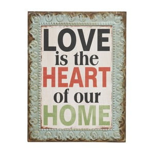 "Cedule Love is the heart of our home"", 43x33 cm"
