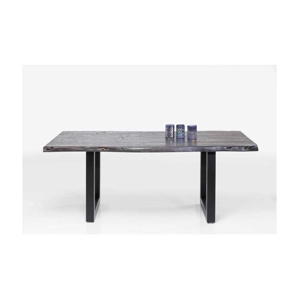 Černý jídelní stůl z akáciového dřeva Kare Design Nature, 195 x 100 cm