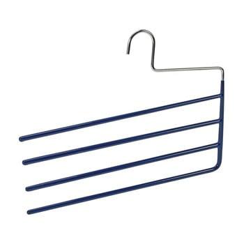 Umeraș antiderapant cu 4 suporturi pentru pantaloni Wenko Hanger Baggy, albastru